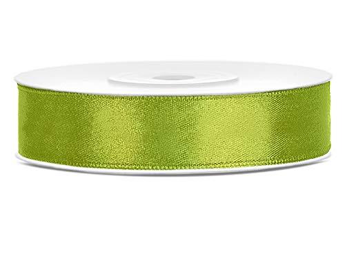 DaLoKu Satinband 6/12/25/38/50/100mm x 25m Geschenkband Schleifenband, Größe: 12mm x 25m, Farbe: Grün
