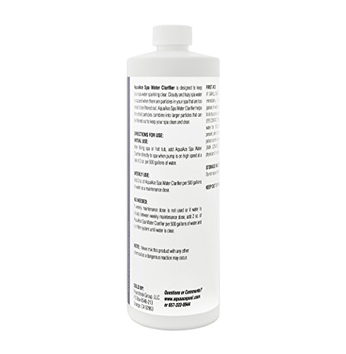 AquaAce Spa Hot Tub Water Clarifier, 32 Ounces, Clears Cloudy and Hazy Water Fast, Made in USA