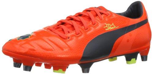 Puma Herren EvoPower 2 Mixed SG Fußballschuhe, Rot (Fluro Peach-Ombre Blue-Fluro Yellow 01), 42