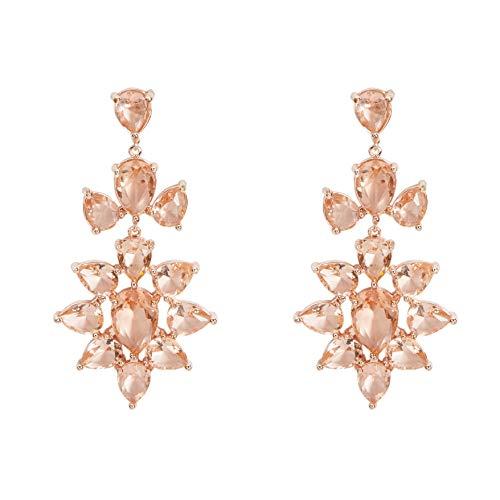 Parfois - Pendientes Largos con Cristales - Mujer - Talla Única - Dorado