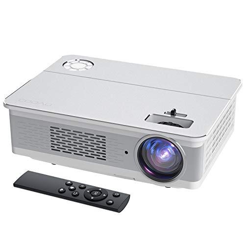 Proyector, COOAU 6800 Lúmenes Proyector Full HD 1920x1080P Nativo Soporta 4K con...