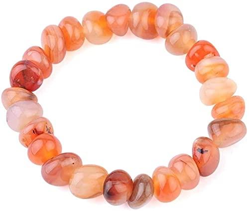 Pulsera Feng Shui Bead Pulsera de piedra Mujer, 7 chakra perlas de piedra natural ágata brazalete elástico anaranjado joyería orar energía yoga ilimitado encanto semiprecioso pulsera pareja para un re