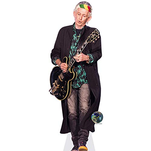 Celebrity Cutouts Keith Richards (Guitar) Pappaufsteller Mini