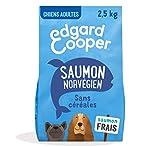 Edgard & Cooper - Pienso para Perro Adulto sin Cereales, 2,5 kg, salmón Fresco hipoalergénico, alimentación Sana Sabrosa y equilibrada, proteínas