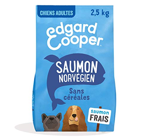 Edgard & Cooper Adult Dog Food Cereal Free Natural Food 2.5 kg Fresh Salmon Hypoallergenic, Tasty and Balanced Healthy Food, Proteins