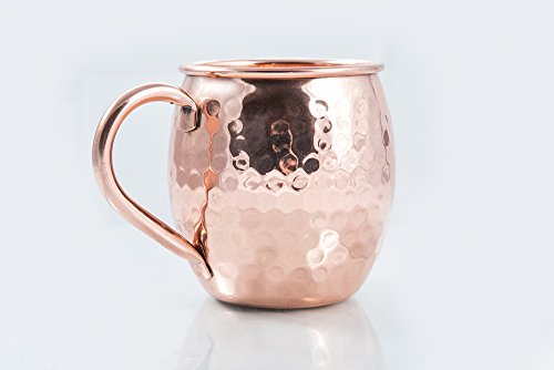 Moscow Mule Copper Mug Hammered Pure Handcrafted 16 Oz / 500ml. The Best Gift Beer Mugs ever!!
