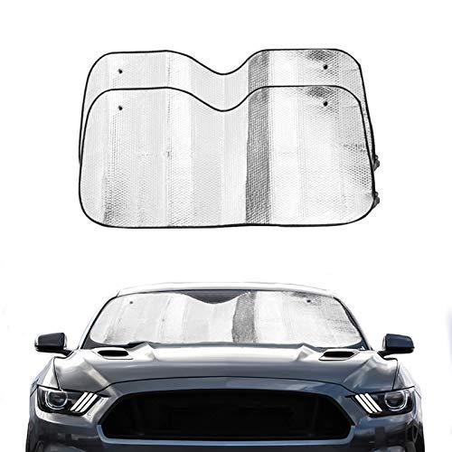 Visière pare soleil pare brise universel de voiture protection pare soleil voiture multi-usage, pliable - Pare-soleil auto avant ou arrière en feuille d'aluminium - Lot de 2 protections