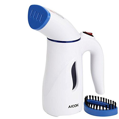 AICOK Dampfglätter für Kleidung, 7-1 Schnellerhitzen, Vertikal Reise-Dampfglaetter für Kleidung [2020 verbessertes Modell], Tragbarer Kleidungsdämpfer für Zuhause, Faltenentferner