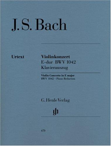 Konzert für Violine und Orchester E-dur BWV 1042. Violine, Klavier