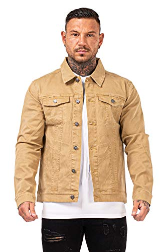 Mens Jackets Fashionable Denim Jackets Motorcycle Khaki Size Xl