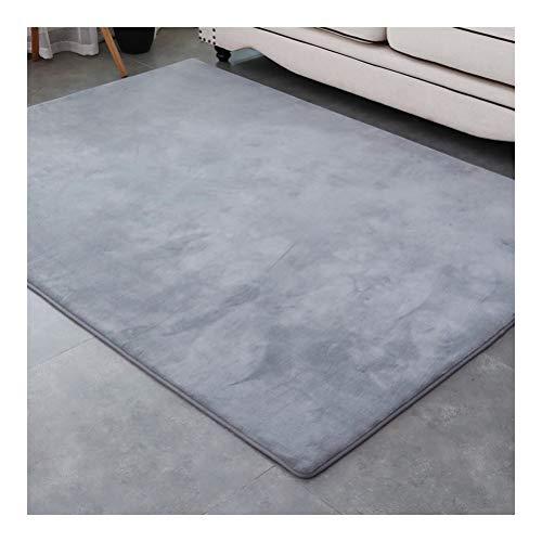 Alfombra súper suave cojín de silla, sofá cubierta área alfombra utilizada para dormitorios, suelos, sofás, sala de estar, rectangular., gris, 80x120cm
