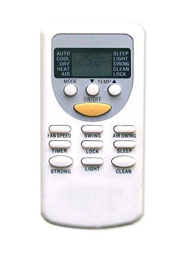 wellclima Telecomando ZH/JT-01 ZH/JT03 per condizionatore Chigo, Vaillant, Rheem, Brize, White Westinghouse, Komeko, Zephir, Bent, Lenoir Aria condizionata, climatizzatore, Pompa di Calore