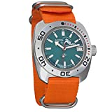 Vostok Amphibian Scuba Dude Automatic Mens Wristwatch Self-Winding Military Diver Amphibia Ministry Case Wrist Watch #710059 (710059 Orange)