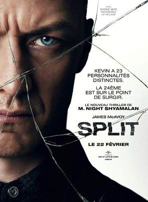 Import Posters Split - James McAvoy – French Movie Wall Poster Print - 30CM X 43CM