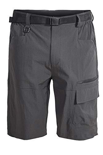 Mr.Stream Men's Bermuda Beach Jogging Quick Drying Outdoor Casual Multi Pocket Stretch Cargo Shorts X-Large Grey
