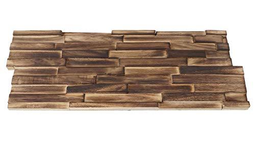 10x Wandverkleidung Holz Wandgestaltung in braun - 8