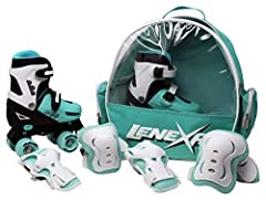 LEARNING - Lenexa go gro skates are the perfect pick for kids to enjoy skating thoroughly. With strength of Polyurethane and padded boots, the kids can fully enjoy the learning process without any pain or discomfort. ADJUSTABLE - These smart skates a...