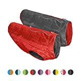 Kurgo Loft Jacket, Reversible Dog Coat, Dog Coat for Cold Weather, Water-Resistant Dog Jacket with Reflective Trim, Red/Grey, Medium