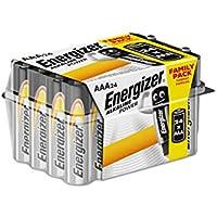 Energizer E92 - Pack de 24 pilas alcalinas AAA, color negro