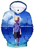 HAOSHENG Hombres 3D Sudadera Naruto Anime Hoodie Uchiha Clan Syarinngann Casual Hoodie Deportiva...