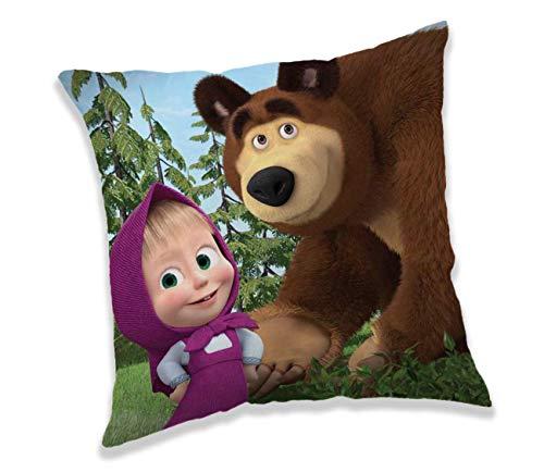 Cuscino per Bambini Masha e Orso 40 x 40 in Poliestere Originale