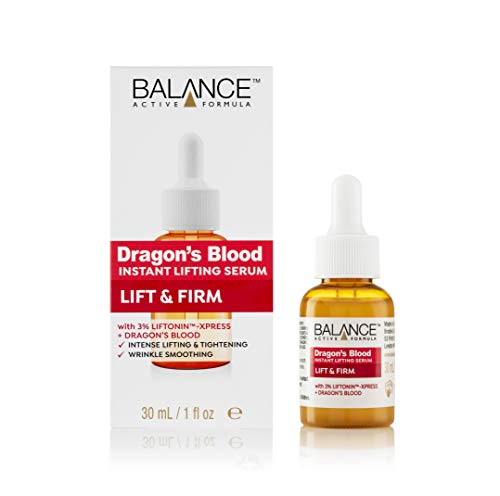 Balance Active Formula Dragon s Blood Instant Lifting Serum (30 ml) - Lightweight & Non-Greasy Serum for Firmer Looking Skin and Reducing the Appearance of Wrinkles