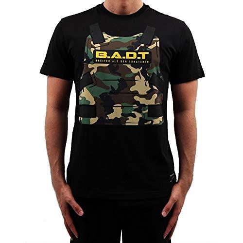 Banger Musik T-Shirt Majoe Schutzweste schwarz (XXL)