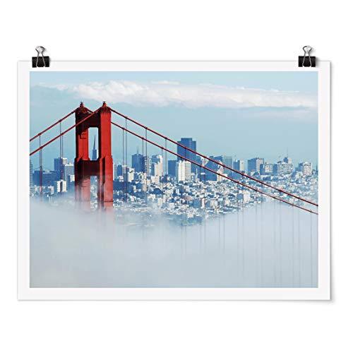 Bilderwelten Poster - Good Morning San Francisco! - Fini satiné Autocollant 75x100cm