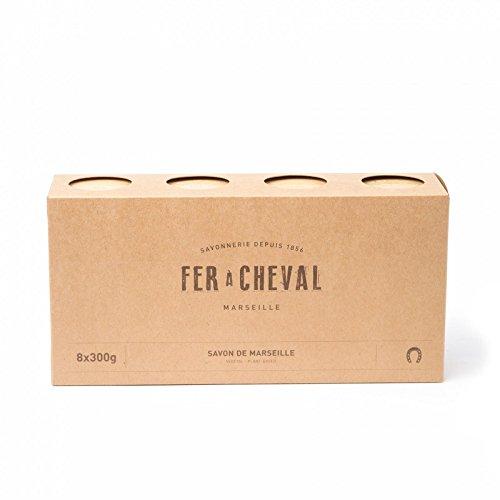 Fer à Cheval - Véritable Savon de Marseille Végétal - Cube Lot de 8x300g