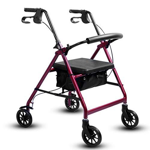 LXCS Portable Domestica Trolley, Pieghevole Carrello, Fare la Spesa rimorchio, Arrampicata Trolley Carrier - Dimensioni 71x52x94cm (Color : Red)
