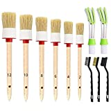 Nurkul 11 Pieces Auto Detailing Brush Set for Cleaning Wheels, Interior,...
