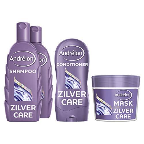 Andrélon Special Zilver Care Pakket voor blond (geverfd) en grijs haar Shampoo, Conditioner en Haarmasker - 1 pakket