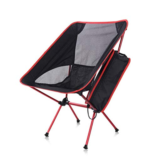 Folding Camp Chair ― Lightweight & Durable Outdoor Seat ― Perfect for Camping, Festivals, Garden, Caravan Trips, Fishing, Beach, BBQs (Red)