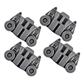 W10195417 Replacement Part Lower Dish Rack Wheel Assembly For Whirlpool, Kenmore, KitchenAid, Maytag, Jenn-Air, Amana Dishwasher- Pack Of 4