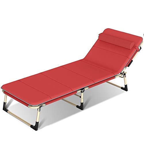 YQAD - Tumbona para el sol, multifuncional, para oficina, siesta, respaldo perezoso, metalportátil, ajuste desmontable, 5