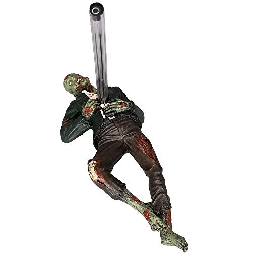 Pacific Trading Desktop Accent Zombie Impaled Pen Holder Tabletop Halloween Decoration Walking Dead Zombie Enthusiast Collectible Figurine