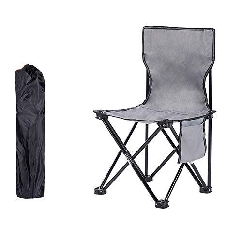 Home Decoration-G.TZ 120 Kg - Chaise De Camping, Chaise De Plage Sandy - Sac De Transport Et De Pliage Gris