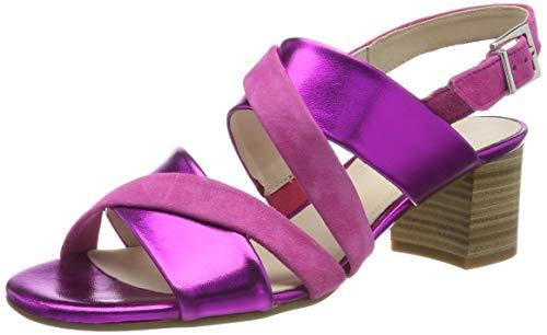 Gabor Shoes Comfort Fashion, Sandalia con Pulsera para Mujer, Rojo (Fuchsia 39), 38.5 EU