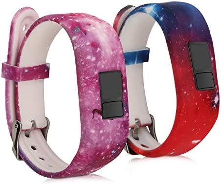kwmobile Silicone Watch Strap Compatible with Garmin Vivofit jr jr 2 2X Fitness Tracker Replacement product image