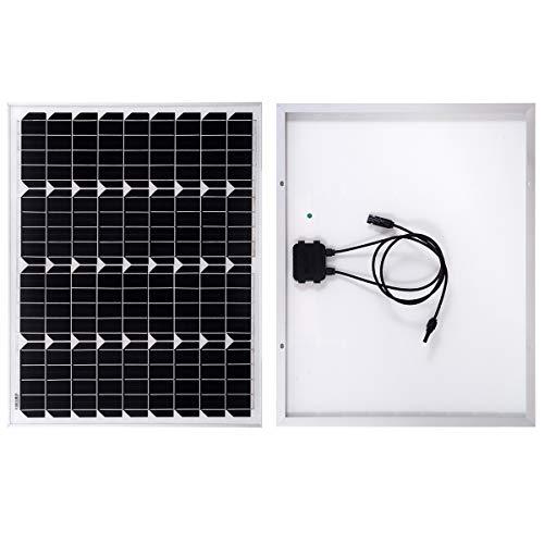 SARONIC 60W 12V Monokristallines Solarpanel Photovoltaik PV-Modul für Wohnwagen, Wohnmobil, Camper, Boot oder Yacht