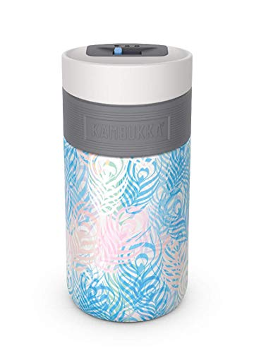 Kambukka Etna Gobelet isotherme- 300 ML - Peacock Feathers - 3 in 1 lid - Snapclean® technology