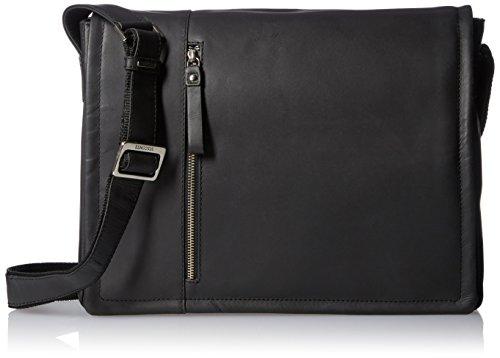 Visconti Foster 13,3 Zoll Laptoptasche, geöltes Leder, Used-Look, schwarz (Schwarz) - 16072
