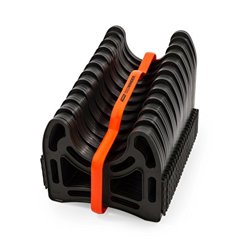 Camco 20 Ft (43051) Sidewinder RV Sewer Hose Support, Made From Sturdy Lightweight Plastic, Won't Creep Closed, Holds Hoses in Place - No Need for Straps