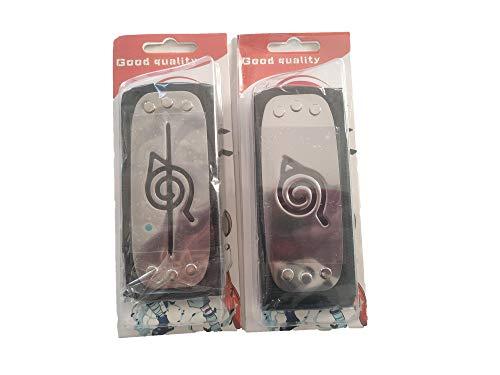 World Collection pack de dos piezas Cinta para Cabeza Naruto Shippuden,Bandana para el Pelo del Universo Naruto,Cosplay de Naruto para niños/as,Disfraz Cosplay de Naruto itachi