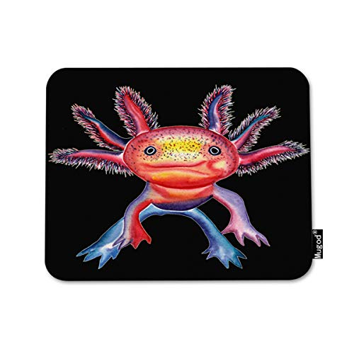 Axolotl Pink Background Mousepad Anti-Slip Water-Resistant Mouse Mat Desktop Laptop Keyboard Mouse Pad Gaming Mouse Pad 15.7 X 29.5 Inches