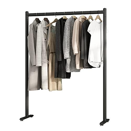 perchero HAIYU- Estante de Suspensión de Metal, Dormitorio/Entrada/Sala Simple Estante de Exhibición Moderno de la Tienda de Ropa, 2 Colores, 4 Tamaños(Size:80cm,Color:Negro)