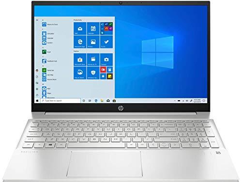 HP Pavilion 15-eg0011ns – Ordenador portátil de 15,6' FullHD (Procesador Intel Core i7-1165G7 , 16GB RAM, 1TB SSD, NVIDIA MX450-2GB, Windows 10) Plata – Teclado QWERTY español