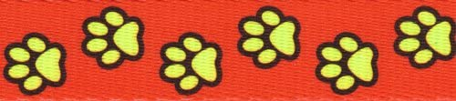 Country Brook Design Free Shipping Cheap Bargain Gift - 5 8 Paws Direct stock discount Webbing Red Polyester Busy Inch