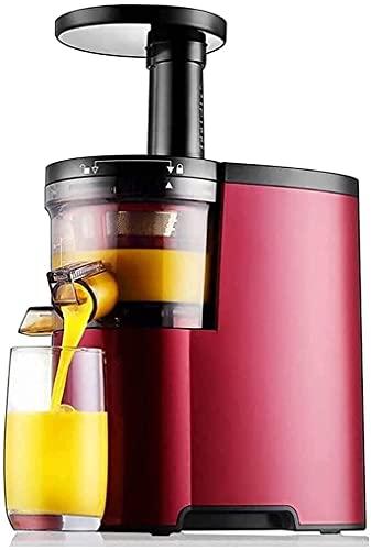 WYFX Máquina exprimidora, máquinas exprimidoras Exprimidor de masticado Lento Extractor Exprimidor en frío con Dos Modos de Velocidad Fácil de Limpiar Motor silencioso para Verduras Frutas