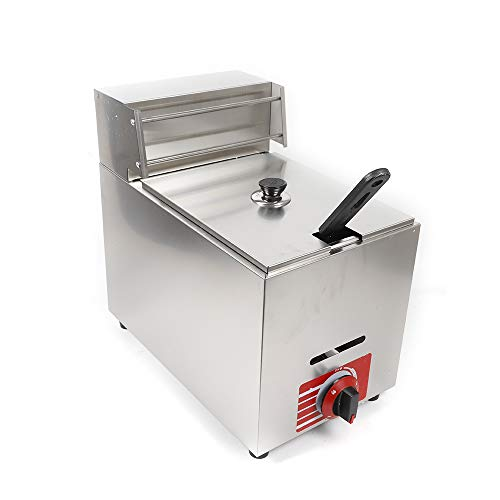 Stainless Steel Propane-LPG Gas Fryer Deep Fryer French Fries Fried Chicken 10L W/All Accessories